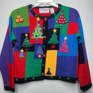 Michael Simon Girls Christmas Embellished Sweater